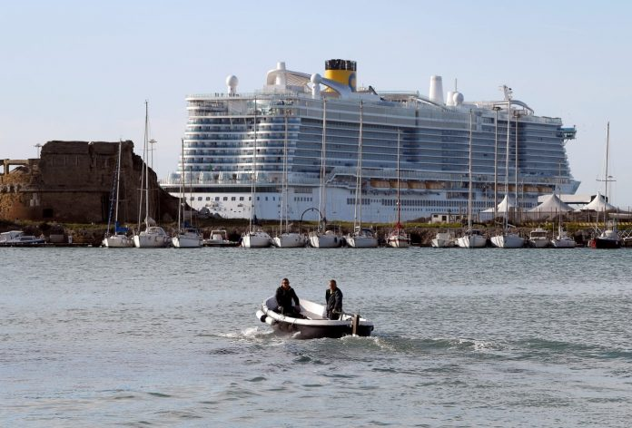 About 6,000 kept from leaving cruise ship in Italy